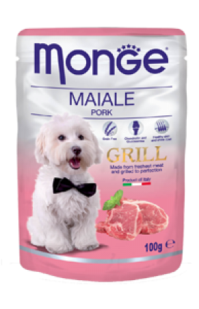 MONGE CANE GRILL MAIALE GR.100