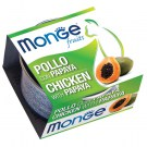 MONGE FRUIT POLLO CON PAPAYA GR 80